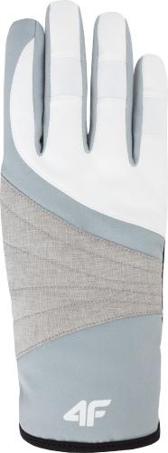 4f Rękawiczki damskie H4Z18-RED001 białe r. L