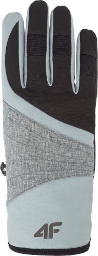 4f Rękawiczki damskie H4Z18-RED001 czarne r. L