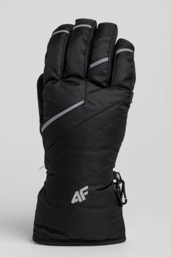 4f Rękawice męskie H4Z18-REM003 czarne  r. M