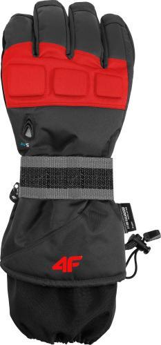 4f Rękawiczki narciarskie męskie H4Z18-REM005 czerwone r. M