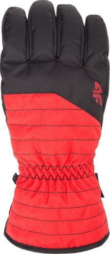 4f Rękawiczki męskie H4Z18-REM001 czerwone r. XL