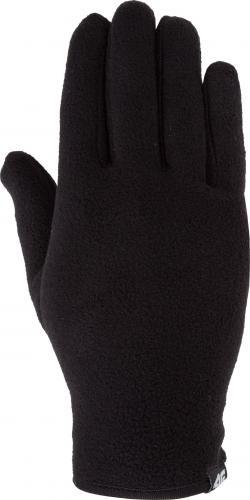 4f Rękawiczki unixex H4Z18-REU001 czarne r. S