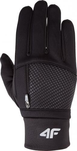 4f Rękawiczki zimowe unixex H4Z18-REU005 czarny r. S