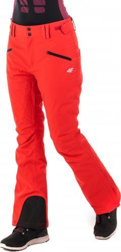 4f Spodnie narciarskie damskie H4Z18-SPDN002 czerwone r. L