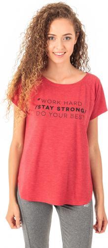 4f Koszulka damska H4Z18-TSD006 czerwony r. M