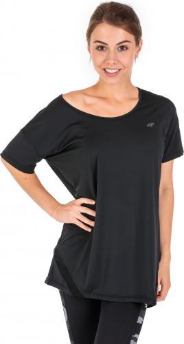 4f Koszulka damska H4Z18-TSDF003 czarna r. S