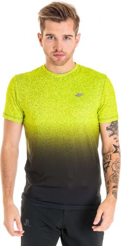 4f Koszulka męska H4Z18-TSMF002 zielono-czarna r. M