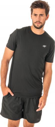 4f Koszulka męska H4Z18-TSMF001 czarna r. L