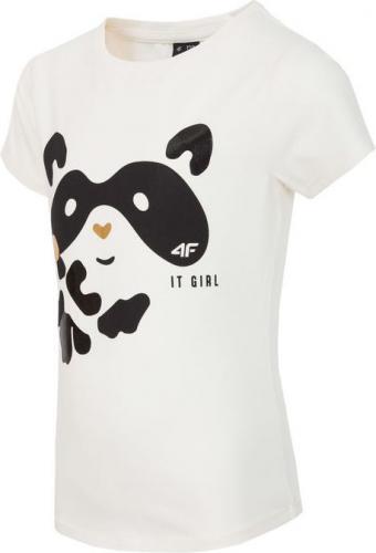 Outhorn Koszulka dziecięca HJZ18-JTSD004 kremowa r. 152