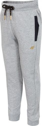 Outhorn Spodnie dresowe dziecięce HJZ18-JSPDD001 szary melanż r. 134