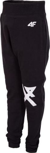 Outhorn Spodnie dresowe dziecięce HJZ18-JSPMD002 czarny r. 128