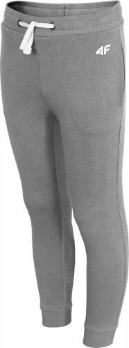 Outhorn Spodnie dresowe dziecięce HJZ18-JSPMD001 szary melanż r.128
