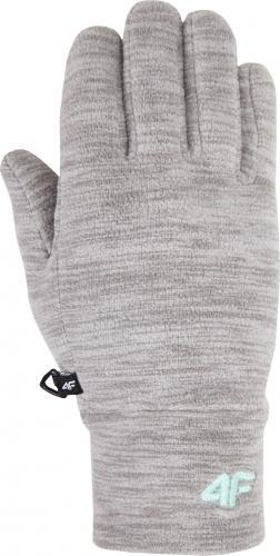 4f Rękawice dziecięce HJZ18-JRED001 szary melanż r. S