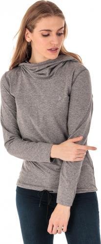 Outhorn Bluza Sportowa Damska Quick Dry Comfy Hoodie Jasnoszary Melanż R.M