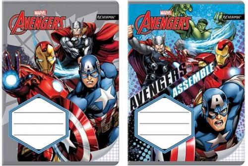 Beniamin Zeszyt A5/16k w kratkę  Avengers