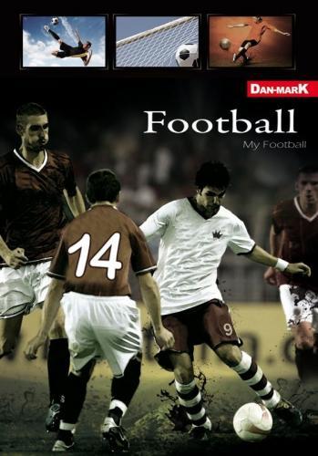 Danmark Zeszyty piłka nożna A5 linia 16 (5905184038410)