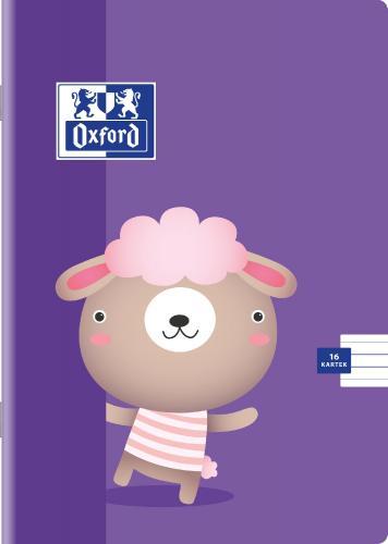 Hamelin Zeszyt Oxford Kids zszywany A5 linia podwójna 16 kartek