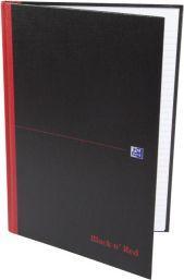 """Hamelin Brulion Oxford Black n""""Red A4, 96 kartek, linia"""