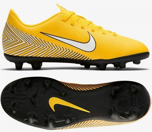 Nike Buty piłkarskie JR Mercurial Vapor 12 Club Neymar MG żółte r. 38.5 (AO9472 710)