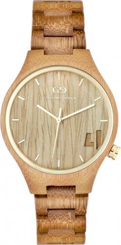 Zegarek Giacomo Design Drewniany  damski GD08401