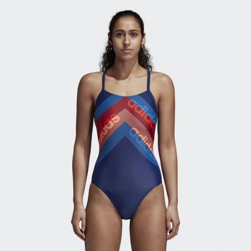 Adidas Kostium kąpielowy Lineage W niebieski r. 42 (DH2403)