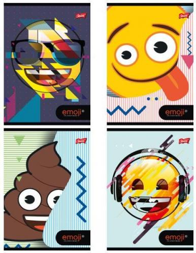 St. Majewski Zeszyt A5 60k kratka Biologia Emoji