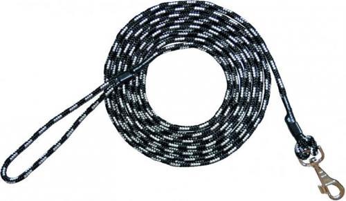 2f153b7bca29f9 CHABA Smycz treningowa z linki czarno-biała