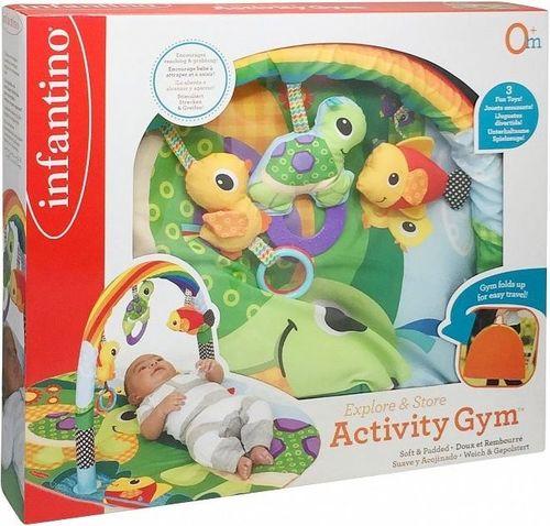 B-Kids Infantino Mata do zabawy z żółwiem