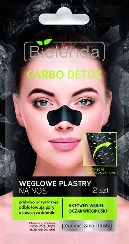 Bielenda Carbo Detox Czarny Węgiel Plastry na nos 2 szt.