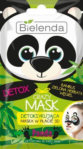 Bielenda Crazy Mask 3D Panda Detoksykująca maska w płacie