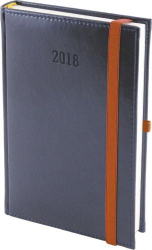 WOKÓŁ NAS Kalendarz 2019 A5 Dzienny Nebraska z gumką, Granat