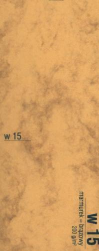 KRESKA Karton A4 W15 brązowy marmurek