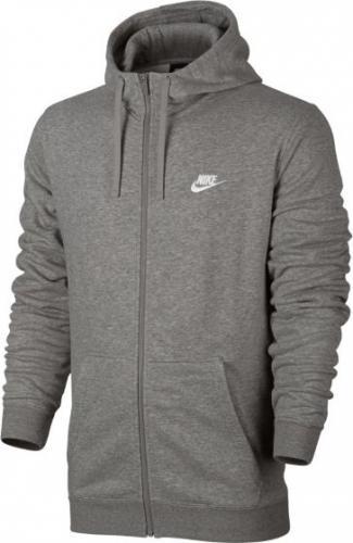 Nike Bluza męska NSW Hoodie FZ szara r. L (804391-063)