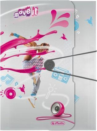 Herlitz Teczka rysunkowa A4 PP z gumką Move It Pink