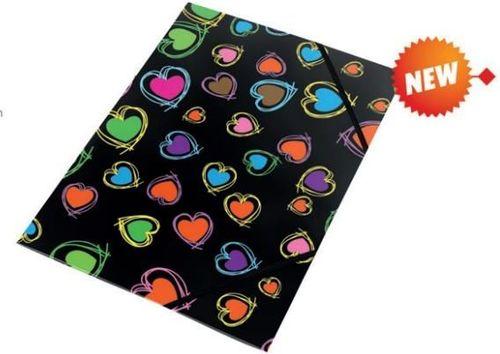 Panta Plast Teczka na gumkę z nadrukiem A4 Hearts 0410-0064-35