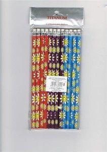 Titanum Ołówek z gumką HB kwiaty (207127)
