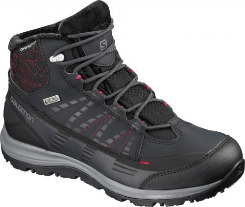 Salomon Buty zimowe damskie Kaïna CS WP 2 Phantom/Black/Beet Red r. 38 2/3 (404728)