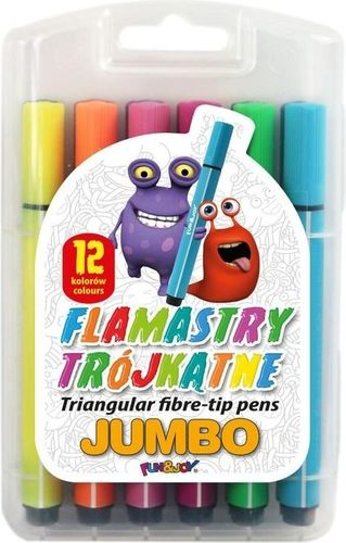 Titanum Flamastry 12 kol.trójkąte jumbo(FJ-204-12)