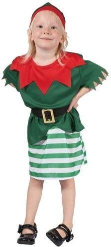 GODAN Strój Mała Elfka (bluzka, spódniczka, pasek, czapka) rozm. 92-104
