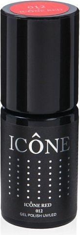 Icone Gel Polish UV/LED lakier hybrydowy 012 Icone Red 6ml