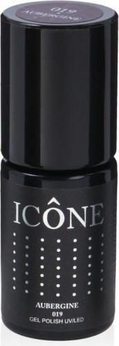 Icone Gel Polish UV/LED lakier hybrydowy 019 Aubergine 6ml