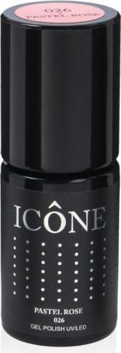 Icone Gel Polish UV/LED lakier hybrydowy 026 Pastel Rose 6ml