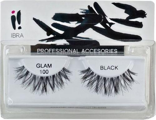 Ibra IBRA_Para sztucznych rzęs na pasku Glam 100 Black