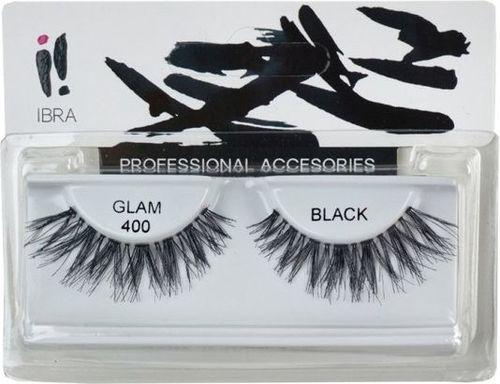 Ibra IBRA_Para sztucznych rzęs na pasku Glam 400 Black