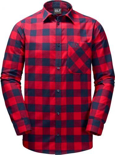 Jack Wolfskin Koszula męska Red River Shirt czerwono-granatowa r.  XL