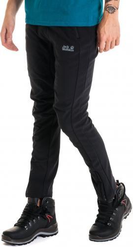 Jack Wolfskin Spodnie męskie Zenon Softshell Pants czarne r. 48/M (4648443)