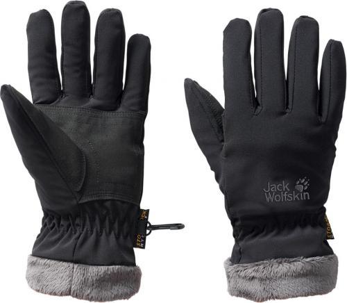 Jack Wolfskin Rękawiczki zimowe damskie Stormlock Highloft Glove black r. M