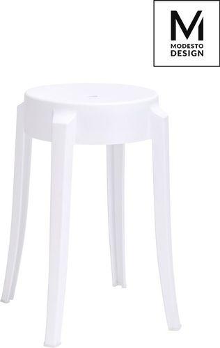 Modesto Design MODESTO stołek CALMAR 46 biały - polipropylen