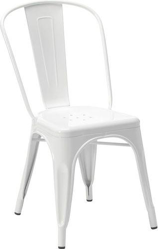 King Home Krzesło Tower białe