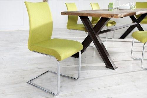 King Home Krzesło Wiggle żółte